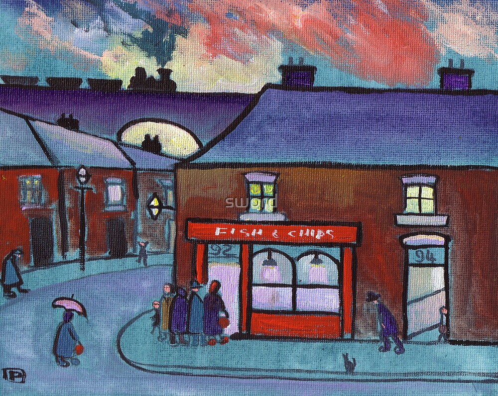 The fish and chip shop by sword
