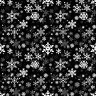 Snowflakes Pattern in Black by Garaga