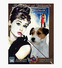 Parson Russell Terrier Art Canvas Print - Breakfast at Tiffany Movie Poster Photographic Print