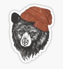zissou the bear Sticker