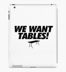 Wrestling - We Want Tables iPad Case/Skin