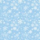 Snowflakes Pattern in Baby Blue by Garaga