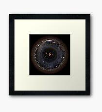 Lámina enmarcada Observable Universe larger SSystem! (fondo negro)