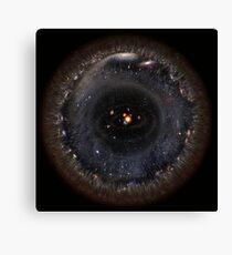Observable Universe bigger SSystem! (black background) Canvas Print
