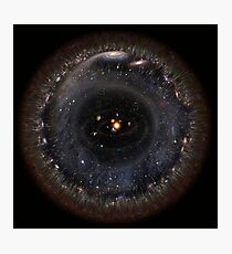 Observable Universe bigger SSystem! (black background) Photographic Print