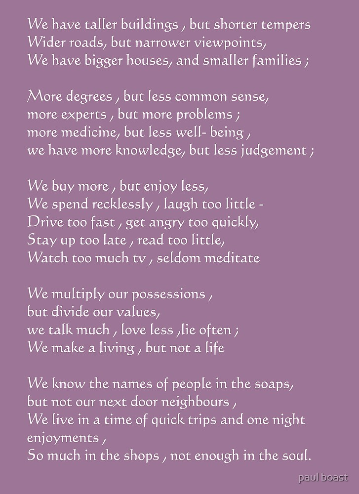 Paradox of Our Times by paul boast