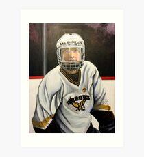 """Hockey Player""  Art Print"