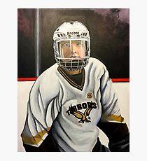 """Hockey Player""  Photographic Print"