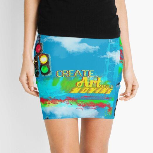 Create Moving Art Mini Skirt