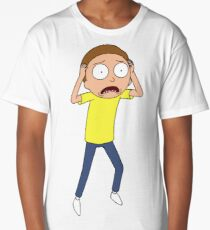 Rick and Morty - Panicked Morty Long T-Shirt