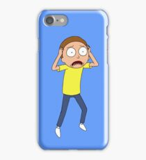 Rick and Morty - Panicked Morty iPhone Case/Skin