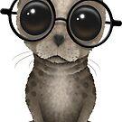 Nerdy Baby Seal mit Brille von jeff bartels