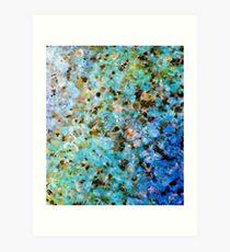 Polished Granite In Blues Art Print