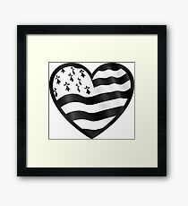 Breton flag heart Framed Print