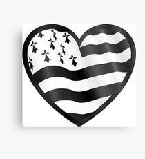 Breton flag heart Metal Print