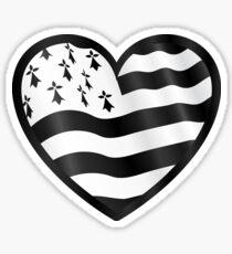 Breton flag heart Sticker
