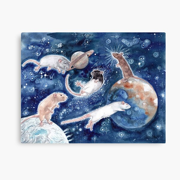 Rats are Stars Spelled Backwards Canvas Print