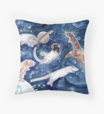 Rats are Stars Spelled Backwards Throw Pillow