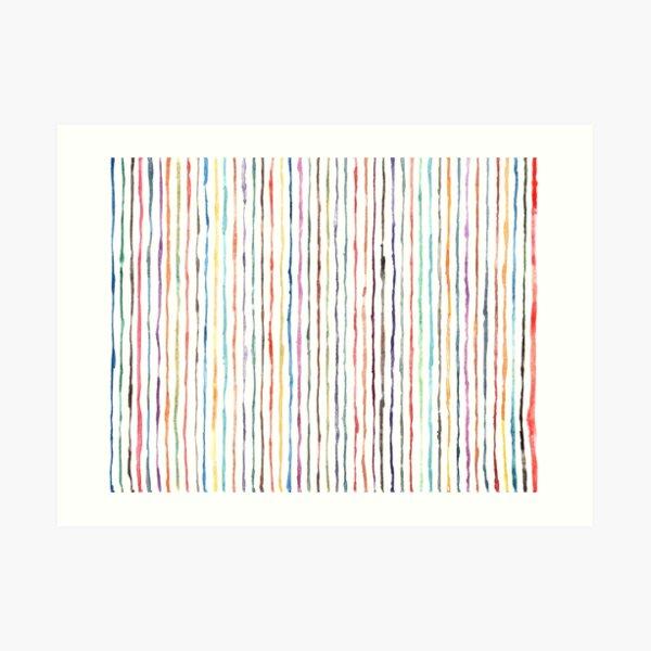 Popsicle Stripe Pattern Art Print