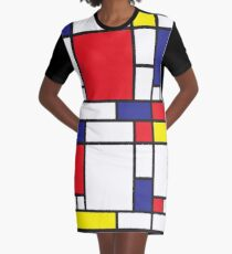 Mondrian Study I Graphic T-Shirt Dress