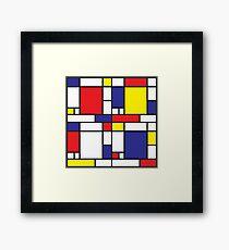 Mondrian Study I Framed Print