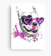French Bulldog In Cute Sunglasses Canvas Print