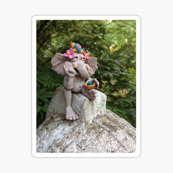 Ganesha in the Garden Sticker