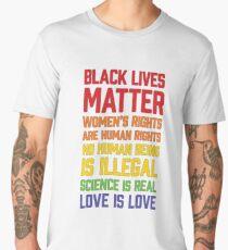 LGBT t shirts - Black Lives Matter Women's Rights Are Human Men's Premium T-Shirt