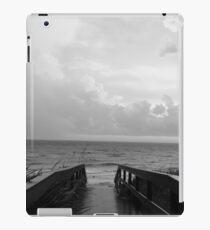 black and white beach path iPad Case/Skin