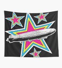 Vintage Zeppelin Pop Art Stars Wall Tapestry