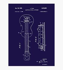 Les Paul Patent Image-Filed Dec. 3, 1959 (PD) Photographic Print