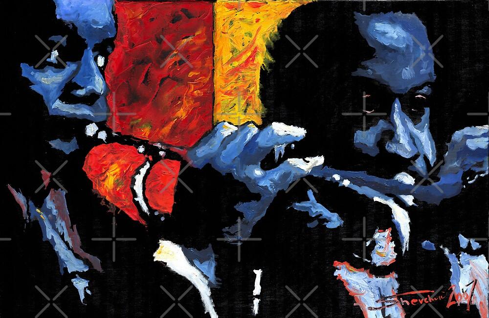 Jazz Trumpeters  by Yuriy Shevchuk