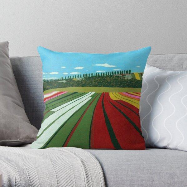 Tulip Farm, Table Cape Throw Pillow