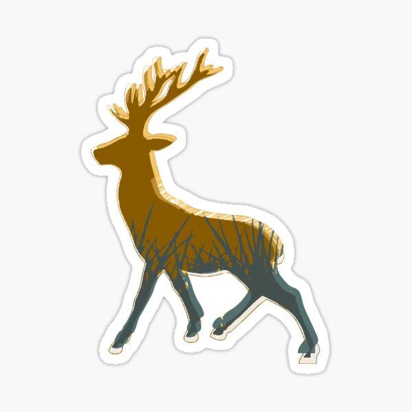 Field on reindeer Sticker