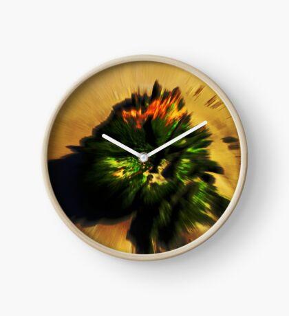 Moos in Bewegung Uhr