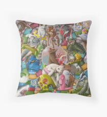 Day At The Pool Throw Pillow