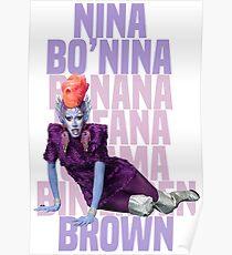 NINA BO'NINA (BANANA FOFANA OSAMA BIN LADEN) BROWN Poster