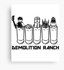 Demolition Ranch shirt Canvas Print