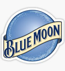 Blauer Mond Sticker
