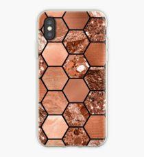 Rose gold hexaglam iPhone Case
