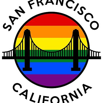 GOLDEN GATE - RAINBOW ROUND SF CA - D2BLACK by personalitee