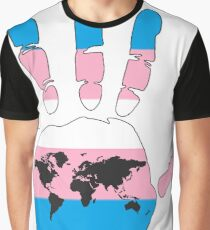 Transgender pride handprint Graphic T-Shirt