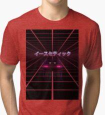 80s RETRO VAPORWAVE RETROWAVE SYNTHWAVE Tri-blend T-Shirt