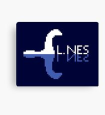 L.NES - White Canvas Print