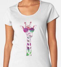 Colorful Giraffe Women's Premium T-Shirt