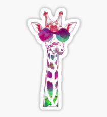 Colorful Giraffe Sticker