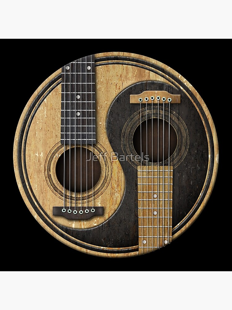 Old and Worn Acoustic Guitars Yin Yang by JeffBartels