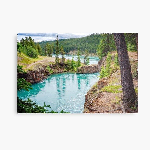 Miles Canyon on Yukon River Metal Print