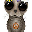 Niedlicher Baby-Siegel-Hippie von jeff bartels