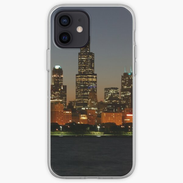 Chicago skyline at sunset iPhone Soft Case